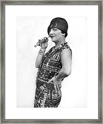 Stage Actress Irene Bordini Framed Print by Underwood Archives