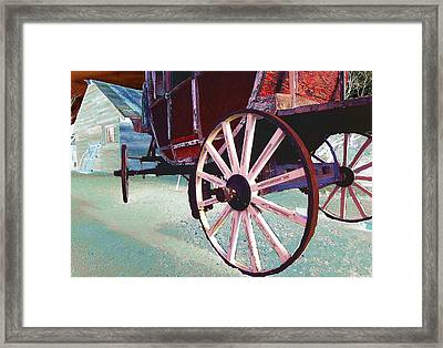 Stage Coach 1 Framed Print by Kae Cheatham