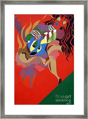 Stage Dancer Framed Print