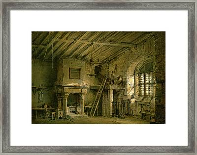 Stage Design For Heart Of Midlothian The Tolbooth Inscribed Framed Print by Litz Collection