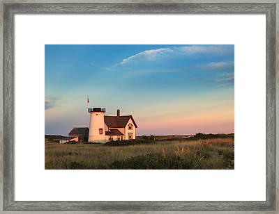 Stage Harbor Lighthouse Framed Print by Bill Wakeley