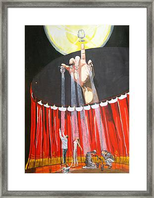 Framed Print featuring the painting Stage Of Life   by Lazaro Hurtado
