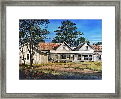 Stage Stop In Cresson Tx Framed Print