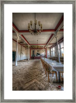 Stage Table Long Framed Print by Nathan Wright