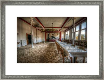 Stage Table Framed Print by Nathan Wright