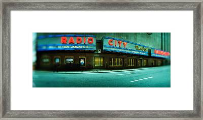 Stage Theater At The Roadside, Radio Framed Print by Panoramic Images