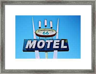Stagecoach 66 Motel Framed Print