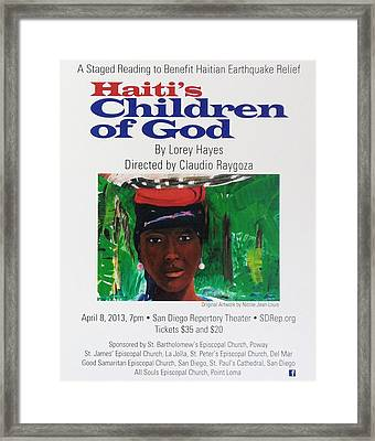 Staged Reading To Benefit Haitian Earthquake Relief Framed Print by Nicole Jean-Louis