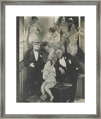 Staged Scene From The Play 'broadway' Framed Print