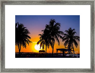 Staging Sunset Framed Print by Rene Triay Photography