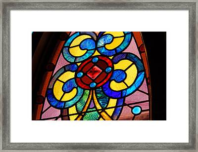 Stain Glass Framed Print by Thomas Fouch