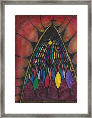 Stain Glass Window Drawing Framed Print by Cim Paddock