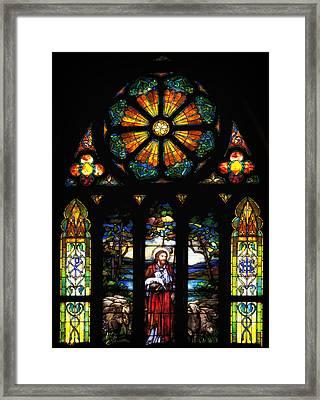 Stained Church Glass - Selma Alabama Framed Print