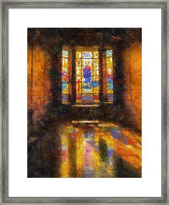 Stained Glass 04 Photo Art Framed Print