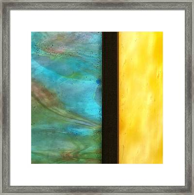 Stained Glass 1 Framed Print by Tom Druin