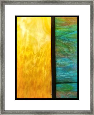 Stained Glass 4 Border Framed Print by Tom Druin