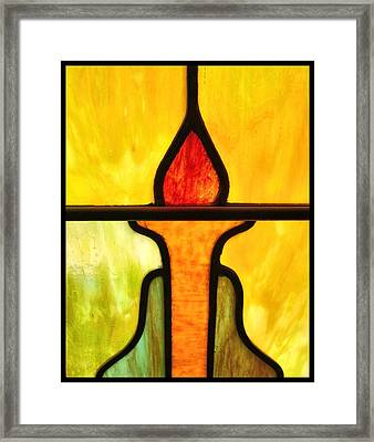 Stained Glass 8 Framed Print by Tom Druin