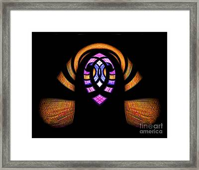 Stained Glass Abstract Framed Print by Sue Stefanowicz