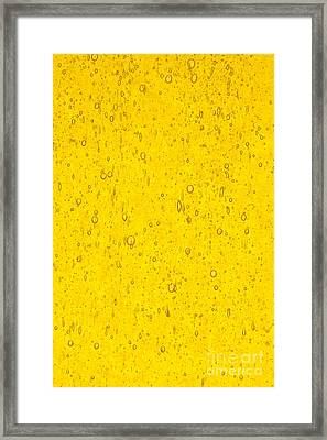 Stained Glass Abstract Yellow Framed Print