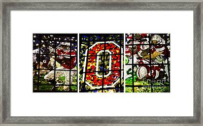 Stained Glass At The Horseshoe Framed Print