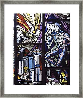 Stained Glass Framed Print by Mountain Dreams