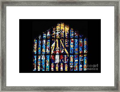 Stained Glass Cathedral Church Of St Andrew Framed Print by Thomas R Fletcher