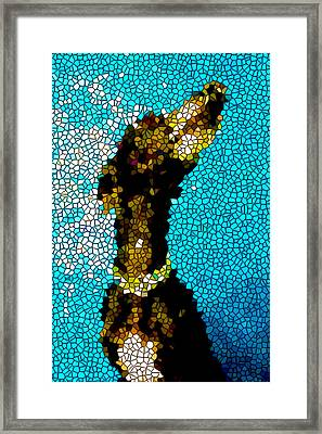 Stained Glass Doberman Pinscher Dog Framed Print by Lanjee Chee