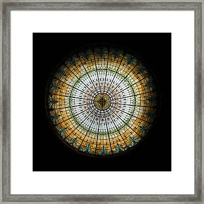 Stained Glass Dome - 2 Framed Print