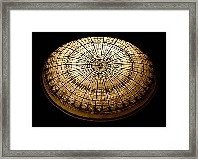 Stained Glass Dome - Sepia Framed Print