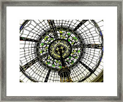 Stained Glass Dome Framed Print by Jon Woodhams