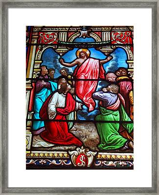 Framed Print featuring the photograph Stained Glass by Ed Weidman