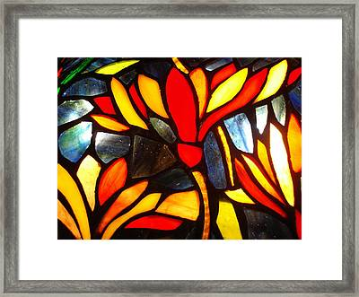Stained Glass Eight Framed Print
