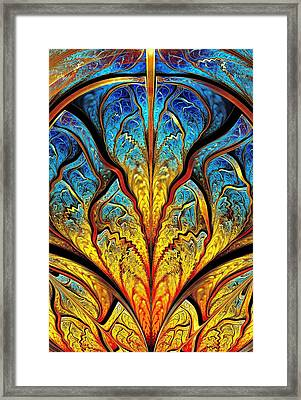 Stained Glass Expression Framed Print