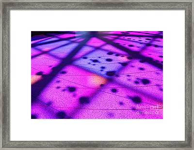 Stained Glass - Front Entry Plaza Of The California Science Center In Los Angele Framed Print