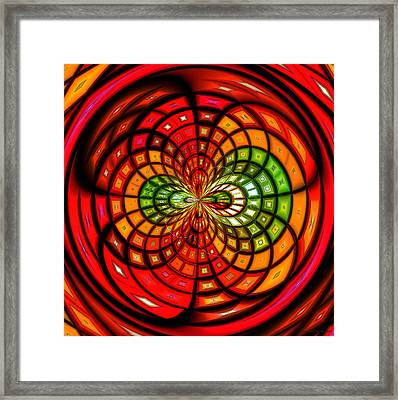 Stained Glass Fruit Salad Framed Print by Shawna Rowe
