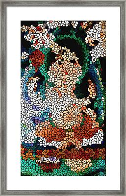 Stained Glass Ganapati Framed Print by Lanjee Chee