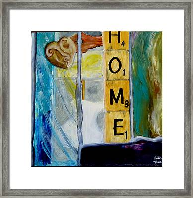 Stained Glass Home Framed Print