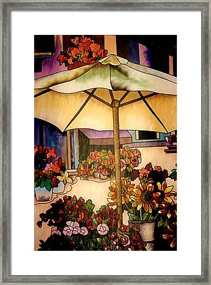 Stained Glass Italy Framed Print by Paulette Thomas