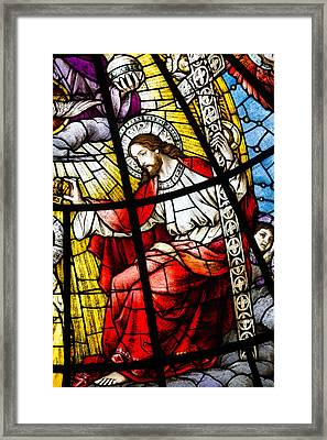 Stained Glass Jesus Framed Print by Dancasan Photography
