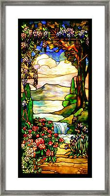 Stained Glass Framed Print by Kristin Elmquist
