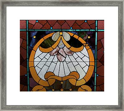 Stained Glass Lc 09 Framed Print by Thomas Woolworth