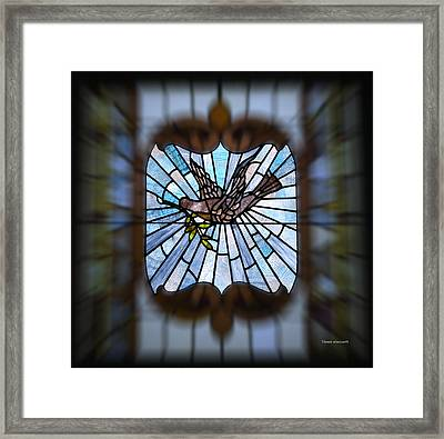 Stained Glass Lc 13 Framed Print by Thomas Woolworth