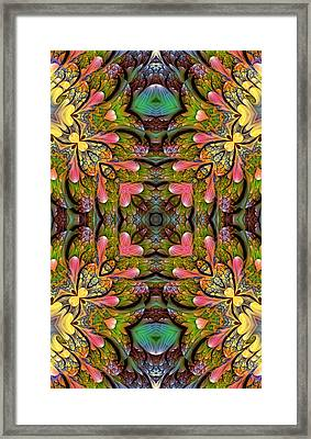 Framed Print featuring the digital art Stained Glass by Lea Wiggins
