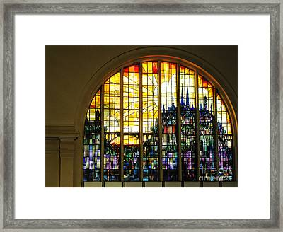 Stained Glass Luxembourg Framed Print by Victoria Harrington