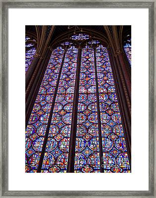 Stained Glass Magnificence Framed Print by Ann Horn