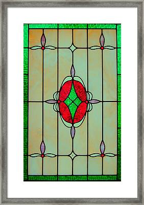 Stained Glass Framed Print by Mary Ann Southern