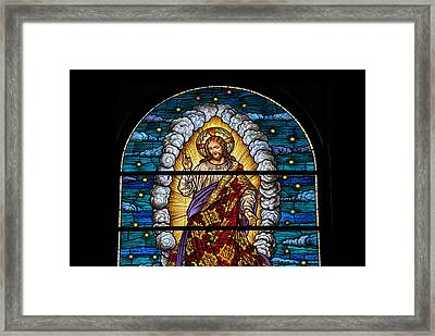 Stained Glass Pc 03 Framed Print by Thomas Woolworth