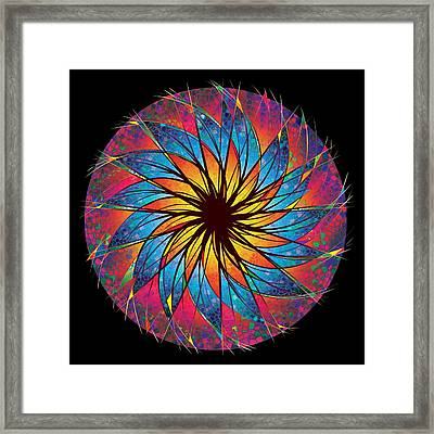 Stained Glass Framed Print by Robert Conway