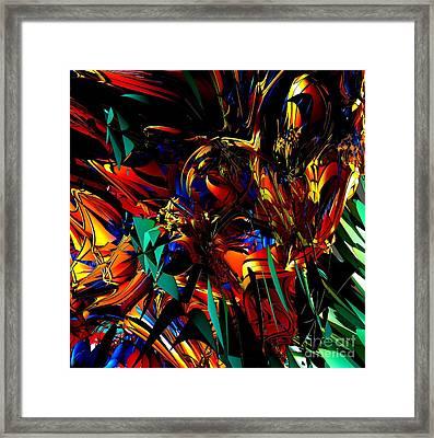 Stained Glass - Saphir Framed Print by Bernard MICHEL
