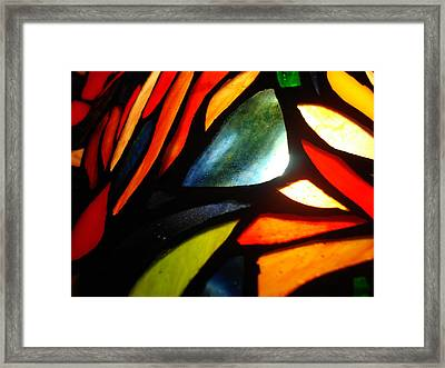 Stained Glass Seven Framed Print